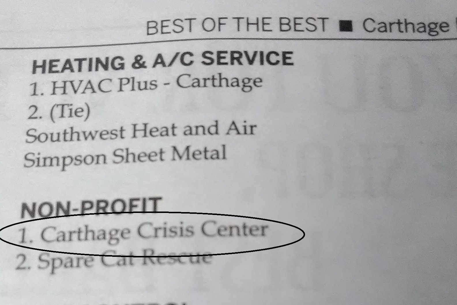 Carthage Press - Best of the Best